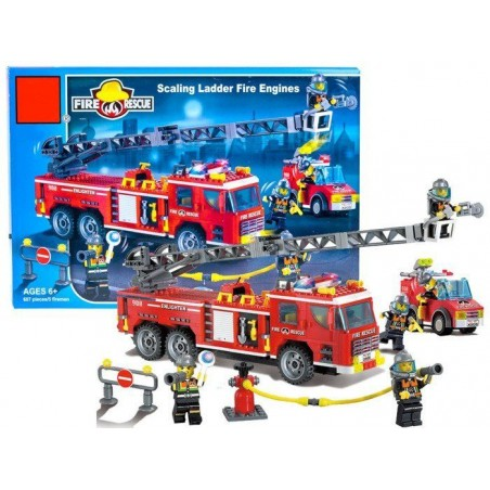 Klocki STRAŻ POŻARNA 5 strażaków 607 el.