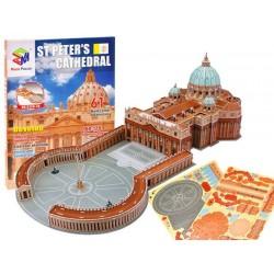 Puzzle 3D Bazylika św. Piotra Watykan 61el.