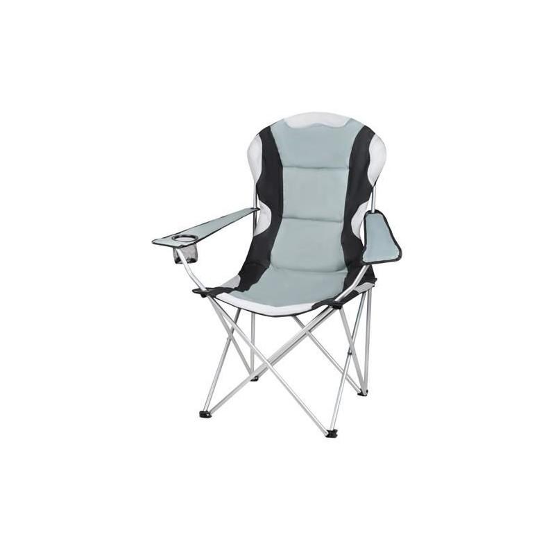 Krzesełko wędkarskie czarno-szare