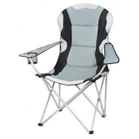 Krzesło wędkarskie czarno-szare