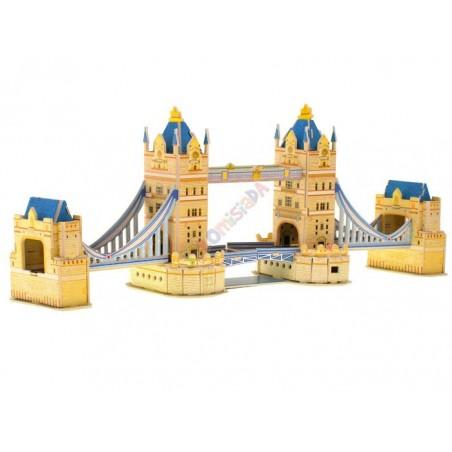 MOST ZWODZONY TOWER BRIDGE - Świecące Puzzle 3D