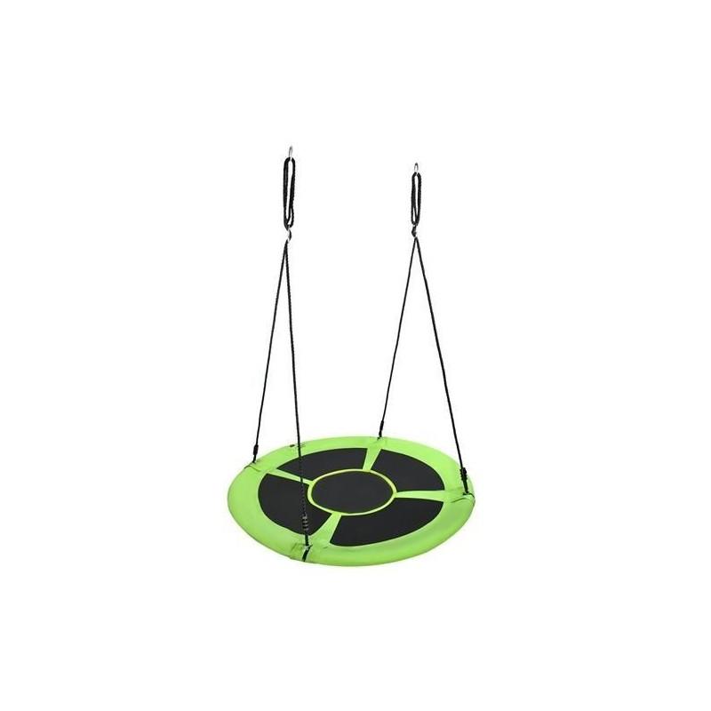 Huśtawka bocianie gniazdo 120cm zielono-czarna