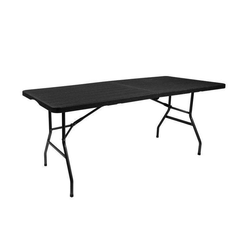 Stół cateringowy ogrodowy składany czarny 180cm