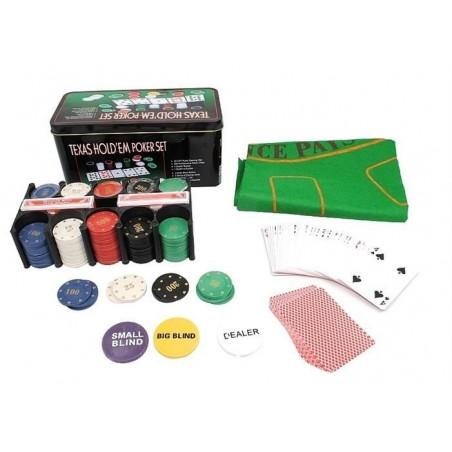 Zestaw do pokera TEXAS 200 żetonów