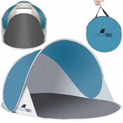 Namiot plażowy 190x86x120cm - turkusowo - szary