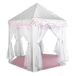 Namiot dla dzieci szaro-różowy