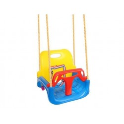 Huśtawka plastikowa z oparciem da dziecka 3w1