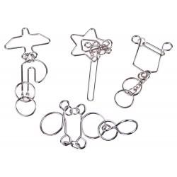 4 Puzzle zakręcona metalowa łamigłówka