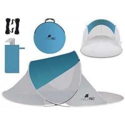 Namiot plażowy 220x120x90cm - turkusowo - szary