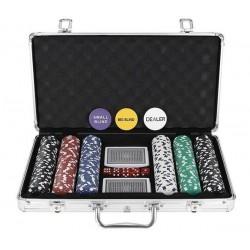 Poker - zestaw 300 żetonów w walizce HQ