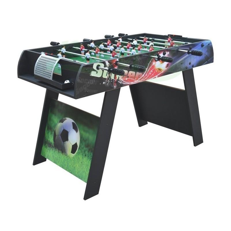 PIŁKARZYKI - Duży solidny stół do gry 121/61/78 cm