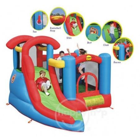 Dmuchaniec - Centrum Zabaw 6w1 HappyHop Zjeżdzalnia Trampolina Zamek Dmuchany