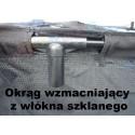 TRAMPOLINA ogrodowa 365 cm 12ft DRABINKA + POKROWIEC + RING