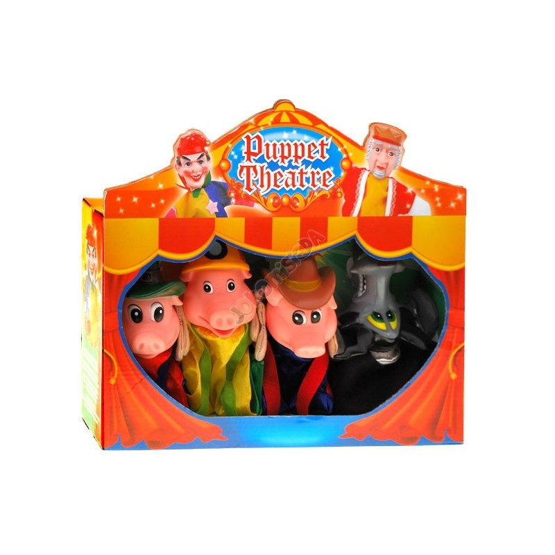 Bajkowe pacynki Świnki  4 kukiełki teatrzyk