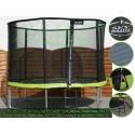 Zielona trampolina ogrodowa 10FT + siatka + drabinka 305 cm - model 2016