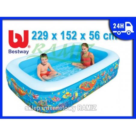 BASEN Morska Głębina 229X152X56cm BESTWAY