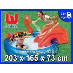 Basen WODNY PLAC ZABAW + Zjeżdżalnia Bestway
