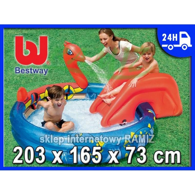 WODNY PLAC ZABAW + Zjeżdżalnia Bestway