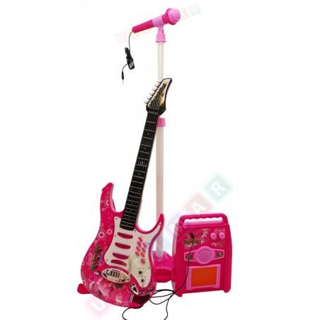 Gitara ze wzmacniaczem, mikrofonem, MP3