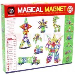 Klocki magnetyczne blokowe 198 elementów