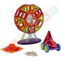 Klocki magnetyczne blokowe 73 elementy