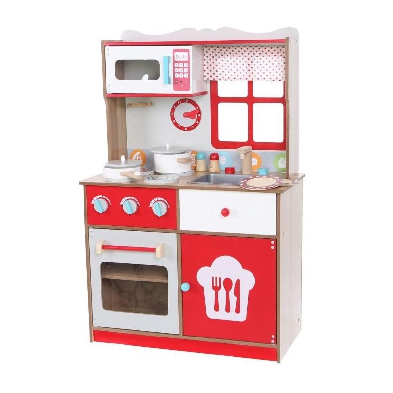 Kuchnia Drewniana Dla Dzieci Ecotoys Z Wyposazeniem