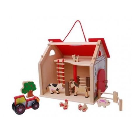 Drewniany domek - Farma z dodatkami