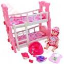 Lalka bobas + piętrowe łóżeczko