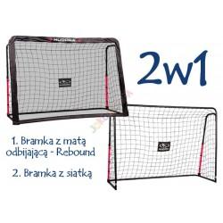 Bramka REBOUND 2w1 Hudora 213x153x76cm