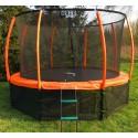 Trampolina 244cm 8ft (ring, drabinka, pokrowiec) pomarańczowa
