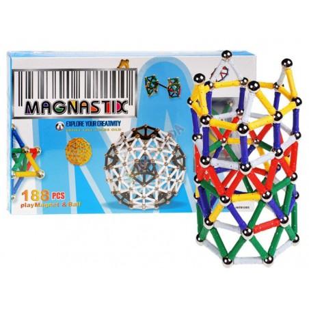 Edukacyjne Klocki Magnetyczne MAGNASTIX 188el