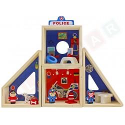 Drewniany posterunek policji: Policja