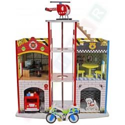 Drewniany Posterunek policji I Remiza strażacka