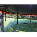 Trampolina 427cm 14ft (ring, drabinka, pokrowiec) zielona NOWOŚĆ