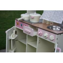 Drewniana Kuchnia Dla Dzieci VINTAGE - Duży Zestaw