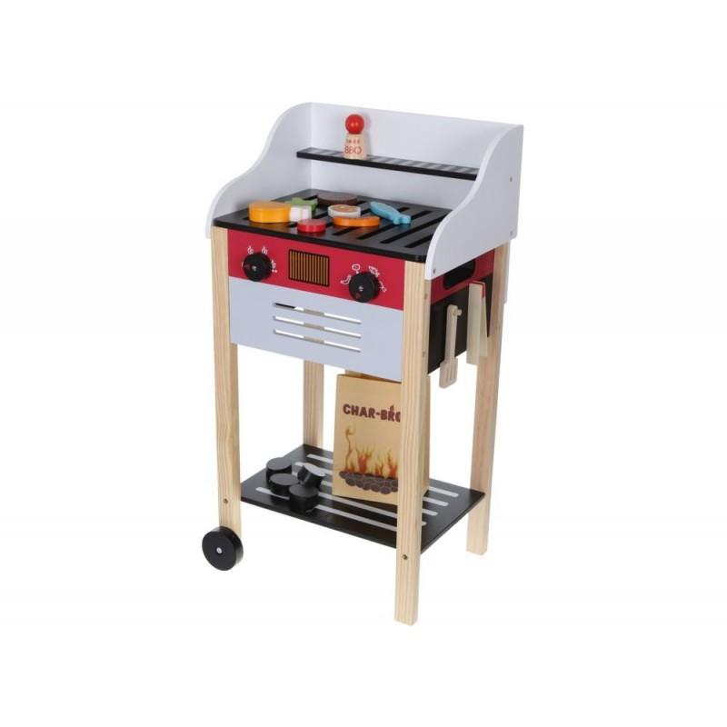 Grill Drewniany Z Akcesoriami Dla Dzieci Kuchnia Polowa