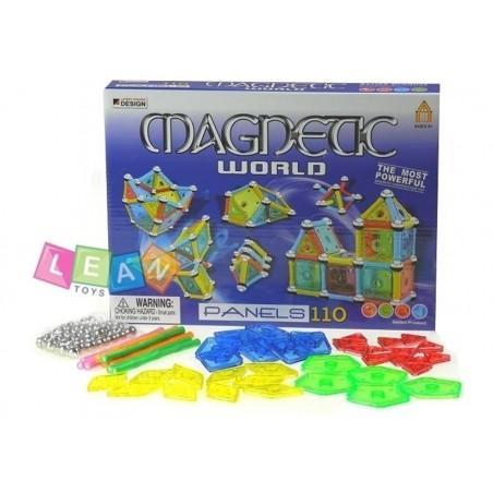 Klocki Magnetyczne Blokowe MAGNETIC WORLD 110 el