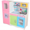 Drewniana Kuchnia dla Dzieci 86 cm z Wyposażeniem