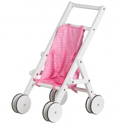 Drewniany Wózek dla Lalek Chodzik Pchacz Eco