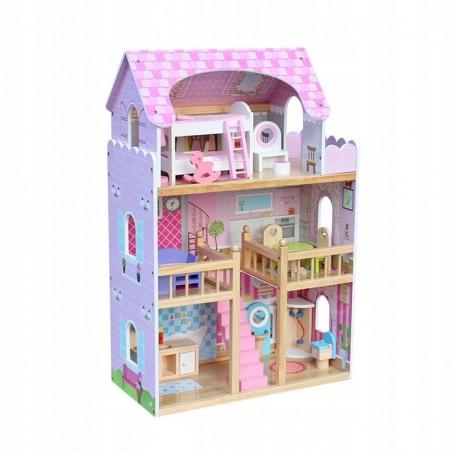 Drewniany Domek Dla Lalek NADIA