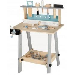 Drewniany warsztat + Zestaw narzędzi 32 elementy