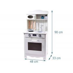 Drewniana Kuchnia dla dzieci 90 cm z wyposażeniem