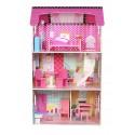 Drewniany domek dla lalek Rezydencja Poziomkowa