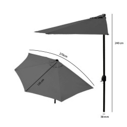 Parasol ogrodowy na taras półparasol 2,7 m