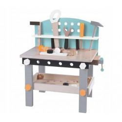 Drewniany Warsztat dla Dzieci 60 cm + Zestaw Narzędzi 32 elementy