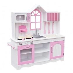 Drewniana Kuchnia Dla Dzieci RETRO PINK