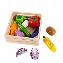 Drewniane warzywa do krojenia na magnes