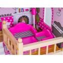 Drewniany Domek dla lalek basen grill Led
