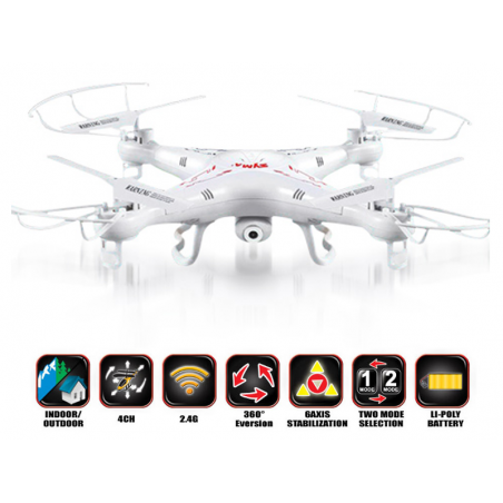DRON QUADROCOPTER UFO SYMA X5C 2,4G + KAMERA HD 2 MP