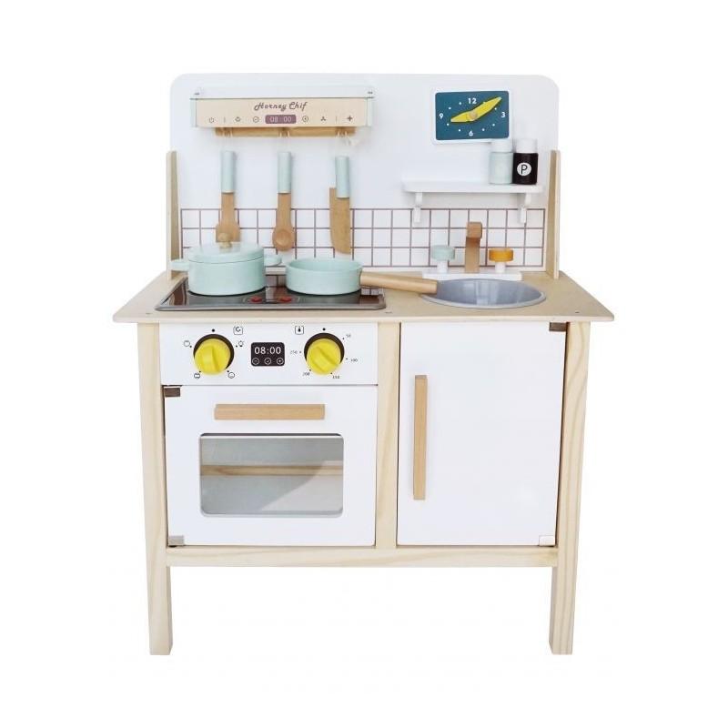 Drewniana kuchnia dla dzieci Kuchenka z dźwiękami
